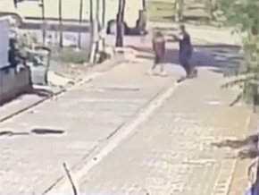 Chased down with knife cop shoots attacker