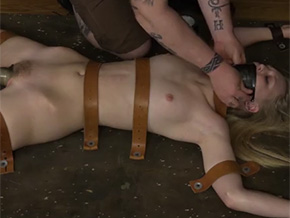 Strapped down and forced to orgasm
